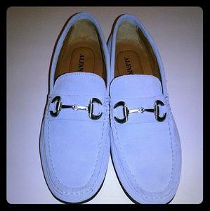 Alfani Mens Powder Blue Loafers Size 9